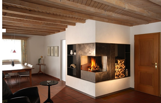 Modern Fireplace Design Portable Rollable Hideable