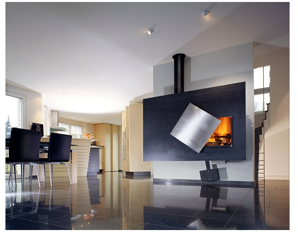 Modern fireplace design portable rollable hideable furious shirley - Hideable furniture ...